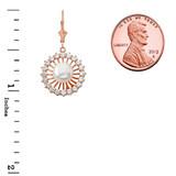 Elegant Designer Diamond & Pearl Earrings in 14K Rose Gold