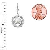 Elegant Designer Diamond & Pearl Earrings in 14K White Gold