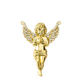 14K Angel Necklace in Yellow Gold