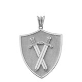 Protection Swords Shield in Sterling Silver