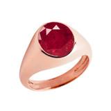 Ruby Birthstone Gentleman's Pinky Ring