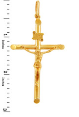 Gold Crosses and Crucifixes - Large Gold Crucifix Pendant