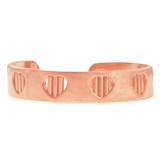 Rose Gold Heart Bar Toe Ring