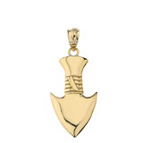 Arrowhead Pendant Necklace in Gold (Yellow/Rose/White)