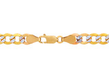 Gold Chains Hollow Cuban Pave 10K Gold Chain 3.27mm