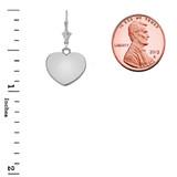 Solid Sterling Silver Simple Heart Leverback Earrings
