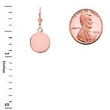 Solid Rose Gold Simple Round Leverback Earrings