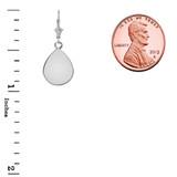Solid Sterling Silver Simple Tear Drop Leverback Earrings