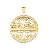 The Last Supper Medallion in Gold (Yellow/Rose/White)