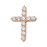 Rose Gold Cross Elegant Pendant Necklace (XS-XL)