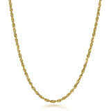 Gold Chains: Rope Solid Gold Chain 2mm
