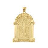 Ancient Armenian Alphabet Mesrop Mashtots Pendant Necklace In Yellow Gold