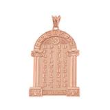 Ancient Armenian Alphabet Mesrop Mashtots Pendant Necklace In Rose Gold