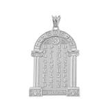 Ancient Armenian Alphabet Mesrop Mashtots Pendant Necklace In White  Gold