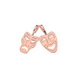 Comedy & Tragedy Masks (Sock & Buskin) Pendant Necklace in Rose Gold