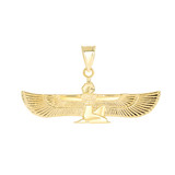 Egyptian Goddess Pendant Necklace in Gold (Yellow/ Rose/White)