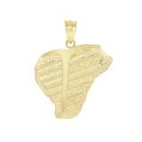 T-bone Steak Pendant Necklace in Gold (Yellow/ Rose/White)