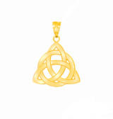 Celtic Knot Triquetra Pendant Necklace in Gold (Yellow/ Rose/White)