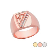 Nugget Gold Diamond Ring In (Yellow/Rose/White)