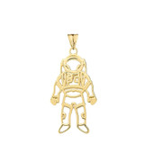 Astronaut  Pendant Necklace In Gold (Yellow/Rose/White)