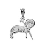 The Lamb of God Pendant Necklace in Sterling Silver