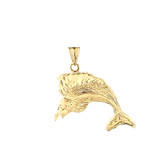 Swordfish Pendant Necklace In Gold (Yellow/Rose/White)