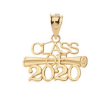 Class of 2020 Pendant Necklace in Gold (Yellow/Rose/White)