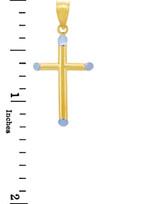 14K Two-Tone Gold Cross Pendant