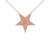 Order of the Eastern Star (OES) Masonic Necklace in Gold (Yellow/Rose/White)