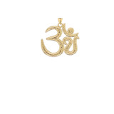 Om/Ohm/Aum Meditation Yoga Charm Pendant Necklace in Gold (Yellow/Rose/White) (Small)