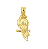Parrot Pendant Necklace in Gold (Yellow/ Rose/ White)