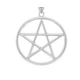 XL Pentagram Pendant in Sterling Silver