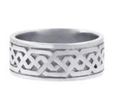 Women's Celtic Band - White Gold Celtic Knot Ring