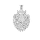 Lion The King Designer Pendant Necklace in Sterling Silver
