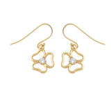 Three Leaf Clover Earrings in Gold (Yellow/Rose/White)