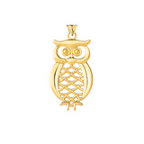 Solid-Yellow-Gold-Designer-Owl-Pendant-Necklace