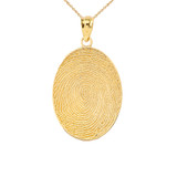 Finger Print Pendant Necklace in Gold (Yellow/Rose/White)