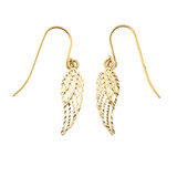 Angel Wings Cut-Out Sparkle-Cut Earrings in Gold (Yellow/Rose/White)