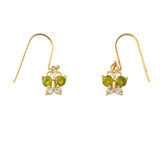 Mini Butterfly with Birthstone Earrings in Gold (Yellow/Rose/White)