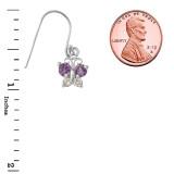 Mini Butterfly with Alexandrite Birthstone Earrings in Sterling Silver