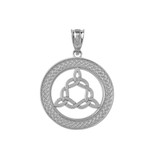 sterling silver trinity Medallion Pendant Necklace