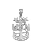United States Navy Master Chief Petty Officer In Sterling Silver