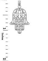 Jewish Charms and Pendants - 14K White Gold Hamesh Hand Charm
