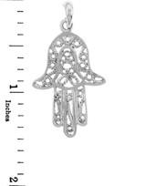 Jewish Charms and Pendants - Sterling Silver Hamsa Hand Charm