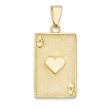 Ace of Hearts Card Pendant Necklace in Gold (Yellow/Rose/White)