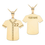 Personalized Engravable Gold Baseball Jersey Charm Necklace With Your Number And Name(Yellow/Rose/White)
