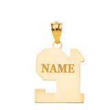 Personalized Engravable Gold Jersey Two-Digit Charm Necklace With Your Number And Name(Yellow/Rose/White)