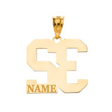 Personalized Engravable Gold Jersey Lucky Number and Name Charm Necklace (Yellow/Rose/White)