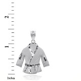 Sterling Silver Martial Arts Karate Robe 3d Charm Necklace