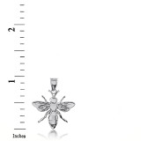 Sterling Silver Bee 3D Charm Necklace